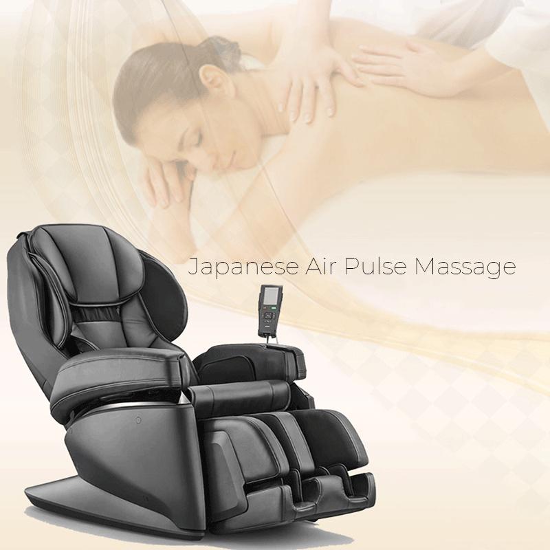 Massaggio giapponese a impulsi, con cuscini d'aria all'avanguadia.