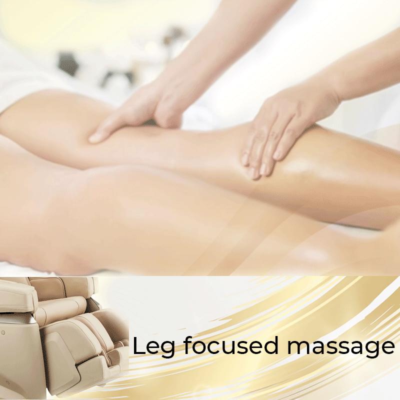 Massaggio focalizzato alle gambe