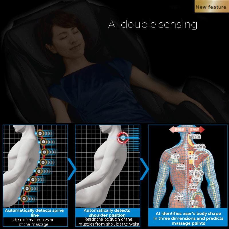 Rileva accuratamente ogni forma del corpo per ottimizzare il massaggio.