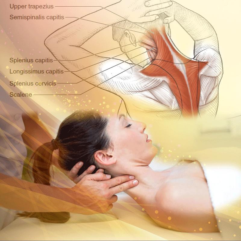 Massaggio 4D focalizzato sul collo