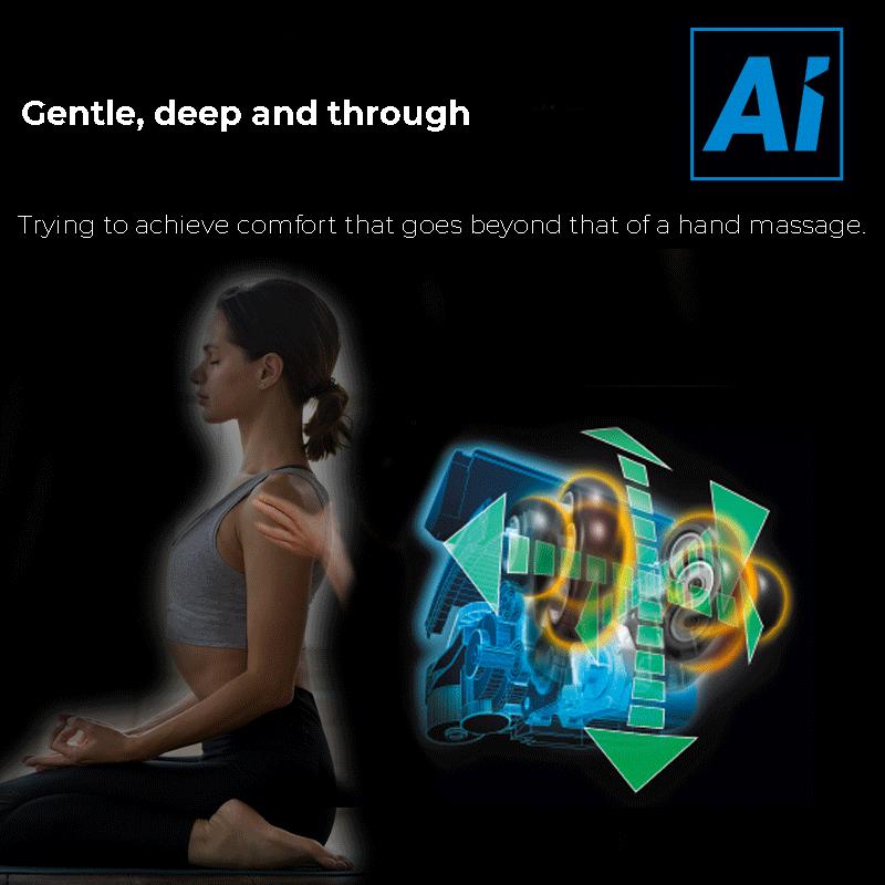 Delicato e profondo ottiene un comfort che va oltre quello di un massaggio manuale.
